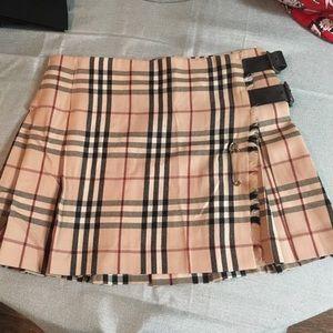 Burberry London Traditional Check Plaid Skirt